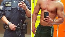 Melihat sosok polisi pria berseragam tentu sudah menjadi pemandangan yang biasa. Tapi kalau melihat polisi berwajah tampan dan bertubuh kekar, bagaimana?