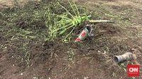 Roket Jatuh dan Meledak di Kebun Warga Lamongan