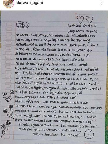 Pengidap Kanker Anak di Aceh Tulis Surat, Isinya Mengharukan