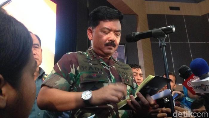 Panglima TNI Marsekal Hadi Tjahjanto (Ibnu/detikcom)