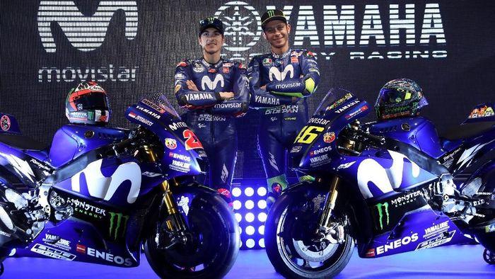 Mulai musim depan, Monster akan menggantikan Movistar sebagai title sponsor tim pabrikan Yamaha (Foto: Susana Vera/Reuters)