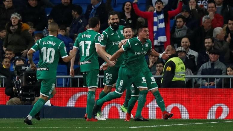 Leganes yang menyingkirkan Real Madrid (Juan Medina/Reuters)