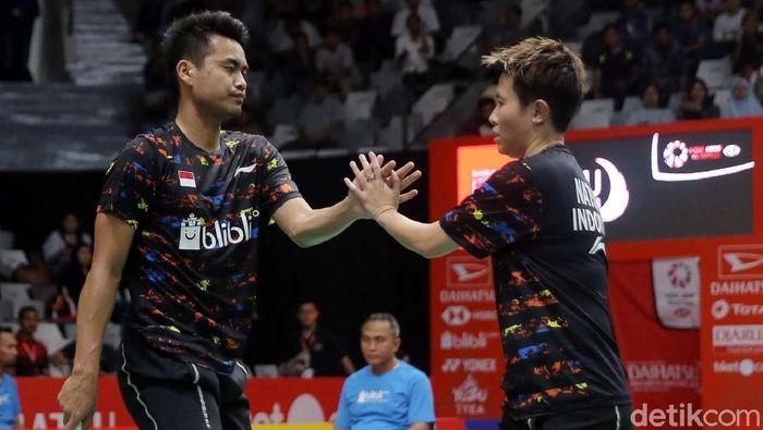 Tontowi Ahmad/Liliyana Natsir di Indonesia Masters 2018 (Foto: Agung Pambudhy/detikcom)