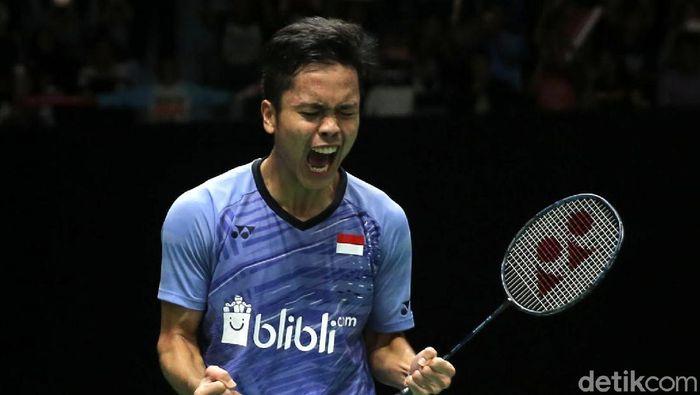 Anthony Sinisuka Ginting lolos ke semifinal Indonesia Masters 2018 (Agung Pambudhy/detikSport)