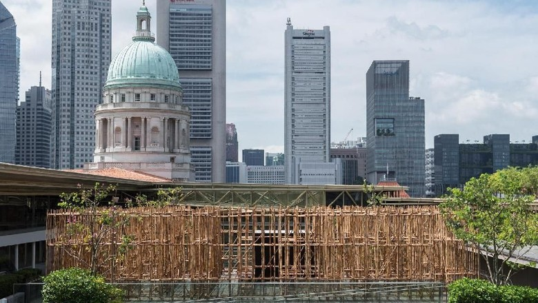 Uniknya Labirin Bambu di Rooftop Galeri Nasional Singapura