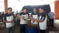 Pemusnahan miras oleh Bea Cukai Bandara Soekarno Hatta