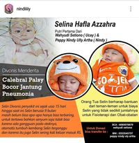 Cerebral Palsy Bikin Bayi Cantik 9 Bulan Ini Belum Leluasa Gerak/