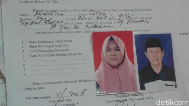 Pernikahan Malih Tong Tong dengan Janda Hanya Dihadiri Pihak Keluarga