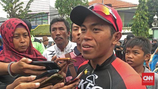 Abdul Gani menyatakan perjuangan timnya pada etape kedua Tour de Indonesia 2018 luar biasa.