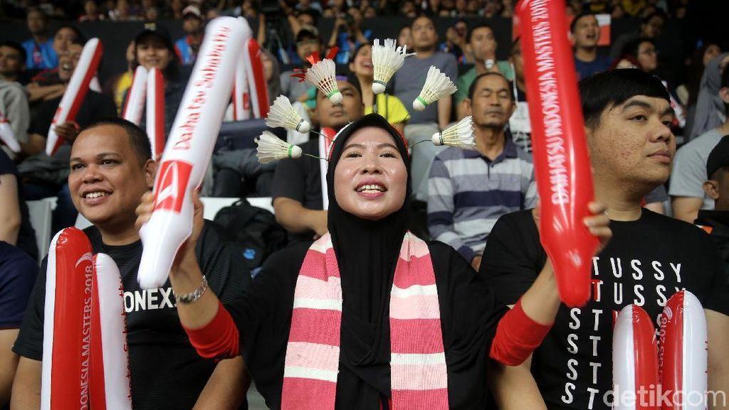 Bermacam Gaya Suporter Indonesia Masters 2018