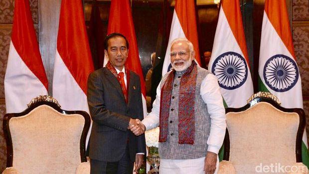Presiden Jokowi bertemu PM India Narendra Modi