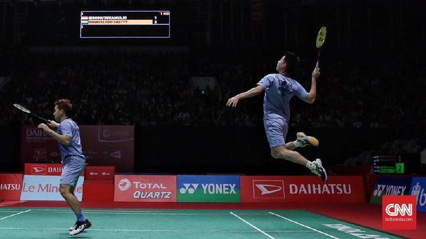 Marcus/Kevin wakil ketiga dari Indonesia lolos ke final Indonesia Masters 2018. (