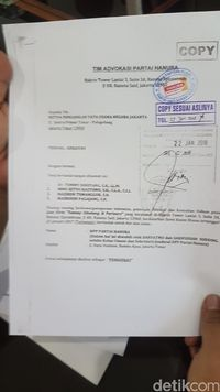 Dokumen gugatan Hanura 'Ambhara' ke kubu OSO