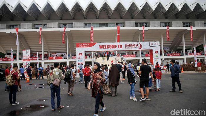 Tampak depan Istora Senayan (Agung Pambudhy/detikSport)