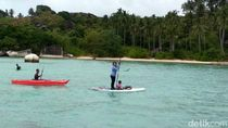 Batu Sindu, Tempat Menteri Susi Paddle Board Bareng Cucu