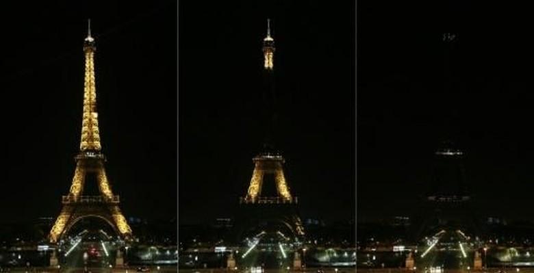 Peringati Bom Ambulans di Kabul, Lampu Menara Eiffel Dipadamkan