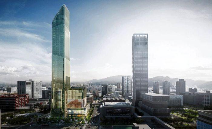 Gedung ini dinamai Taipei Sky Tower (TST). Istimewa/Dezeen.