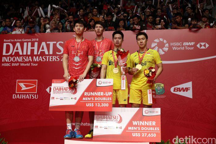 Kevin/Marcus keluar sebagai juara Indonesia Masters 2018.