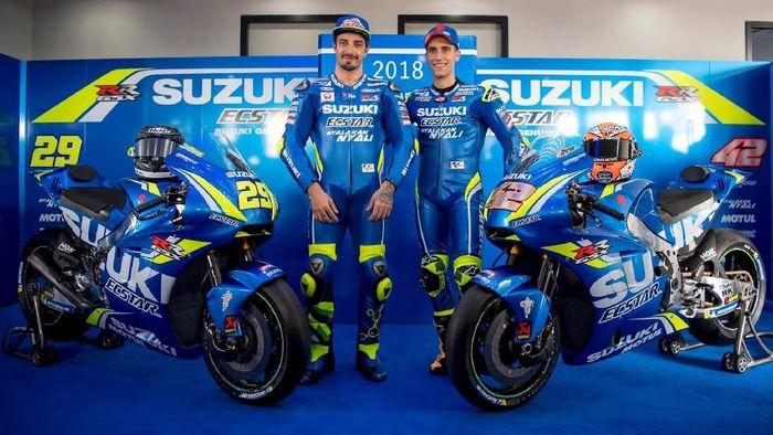 Tim Suzuki meraih banyak podium di MotoGP 2018. (Foto: Facebook Team Suzuki Ecstar)