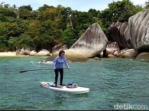 Susi Ingin Seberangi Jepara-Karimun Jawa dengan Selancar