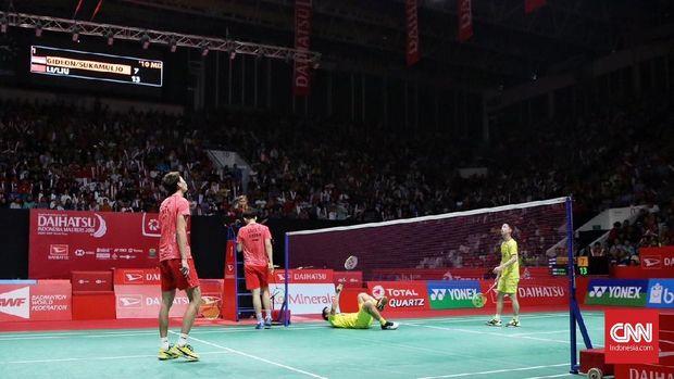 Li Junhui/Liu Yuchen sempat berjumpa dengan Kevin Sanjaya/Marcus Fernaldi Gideon di final Indonesia Masters awal tahun ini.