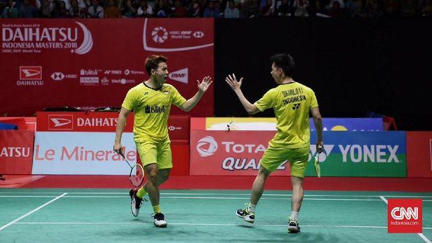 Indonesia Masters adalah turnamen pertama yang dimenangkan Kevin Sanjaya Sukamuljo/Marcus Fernaldi Gideon tahun ini.
