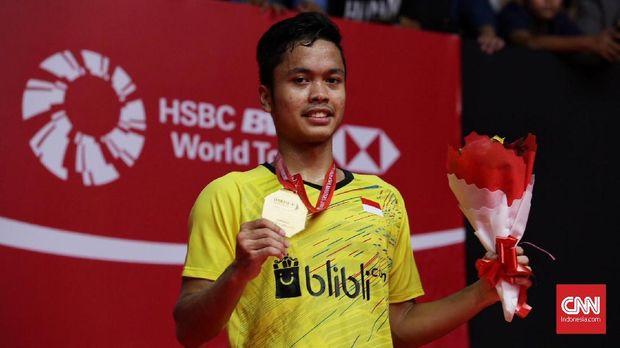 Anthony Sinisuka Ginting meraih gelar perdana di tahun ini ketika menjuarai Indonesia Masters.