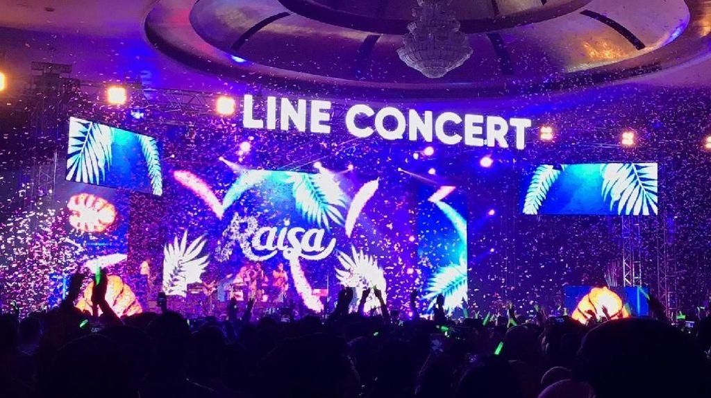 Mengintip Serunya Konser LINE di Medan, Raisa Tampil Memukau