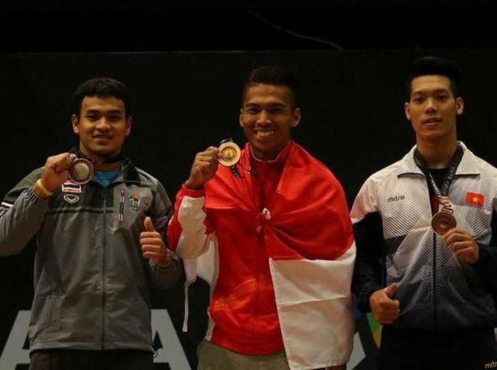 Deni meraih medali emas di SEA Games 2017 (istimewa)