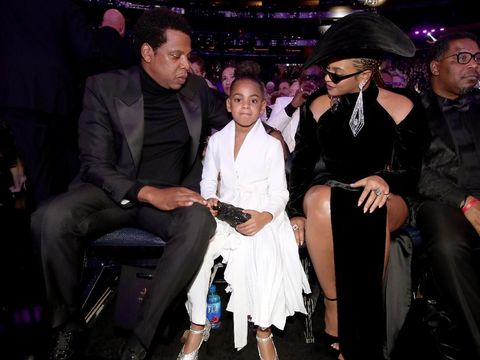 Jay Z, Blue Ivy, dan Beyonce di Grammy Awards 2018.