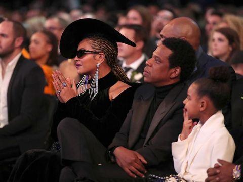 Viral, Aksi Gemas Blue Ivy Diamkan Beyonce dan Jay Z di Grammy Awards 2018