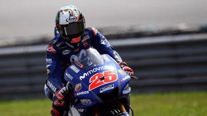Maverick Vinales tercepat di hari kedua tes MotoGP Sepang 2018. (Foto: Manan Vatsyayana/AFP Photo)