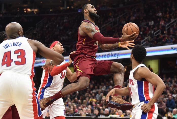 Cleveland Cavaliers mengalahkan Detroit Pistons 121-104. (Foto: Ken Blaze-USA TODAY Sports)