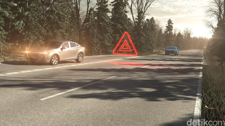 lampu hazard. Foto: Volvo