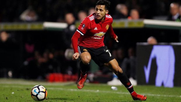 Alexis Sanchez akan tetap memperkuat Manchester United hingga akhir musim ini.