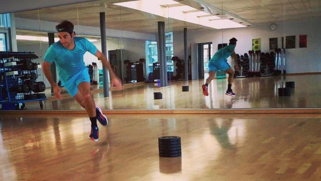 Foto: Begini Olahraganya Jawara Australia Terbuka, Roger Federer