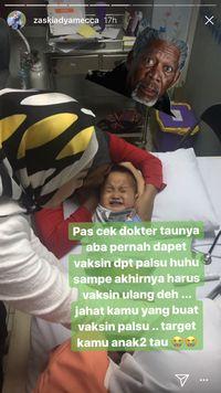 Hiks! Sedihnya Zaskia Mecca Saat si Kecil Dapat Vaksin Palsu