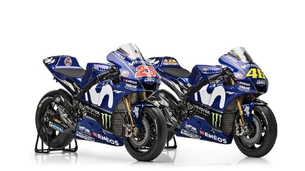 Melihat Spesifikasi Motor Rossi dan Vinales di MotoGP 2018