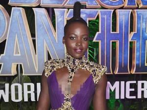 Foto: Premier Black Panther, Lupita Nyongo Unik dengan Rambut Antena