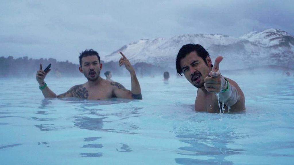 Tempat Chicco Jerikho & Rio Dewanto Basah-basahan di Islandia