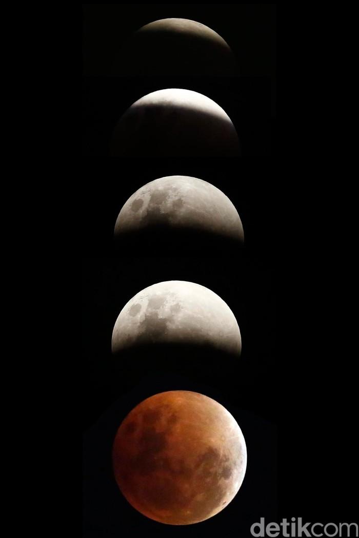 Fase Super Blue Blood Moon di Jakarta