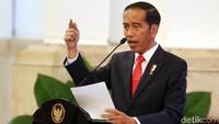 Jokowi membuka Raker Kemendag di Istana Negara, Jakarta, Rabu (31/1/2018).