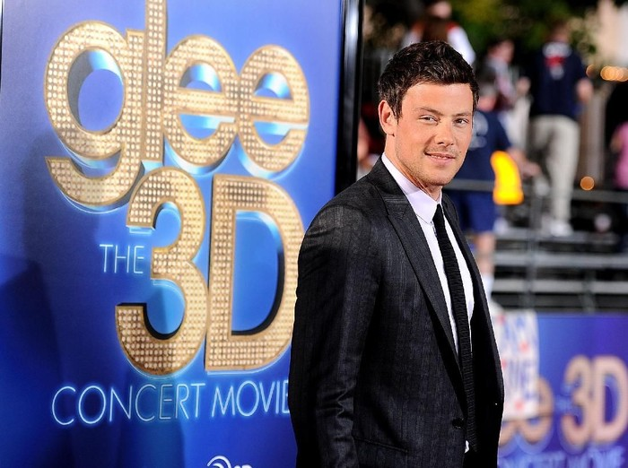 WESTWOOD, CA - AUGUST 06:  ActorCory Monteith arrives at the Premiere Of Twentieth Century Foxs Glee The 3D Concert Movie at the Regency Village Theater on August 6, 2011 in Westwood, California.  (Photo by Frazer Harrison/Getty Images)