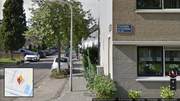Nama sang Wakil Presiden Mohammad Hatta juga ikut dijadikan nama jalan di Haarlem, Belanda. Tepatnya adalah nama jalan Mohammad Hattastraat dalam bahasa Belanda (Google Maps)