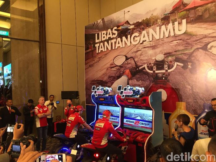 Jorge Lorenzo dan Andrea Dovizioso di Jakarta (Resha Pratama/detikSport)