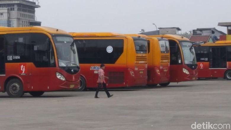 Bus TransJakarta. Foto: M Taufiq/detikcom