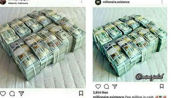 Ups! Pamer Kemewahan, Sunan Kalijaga Diduga Nyatut Foto Tumpukan Dollar