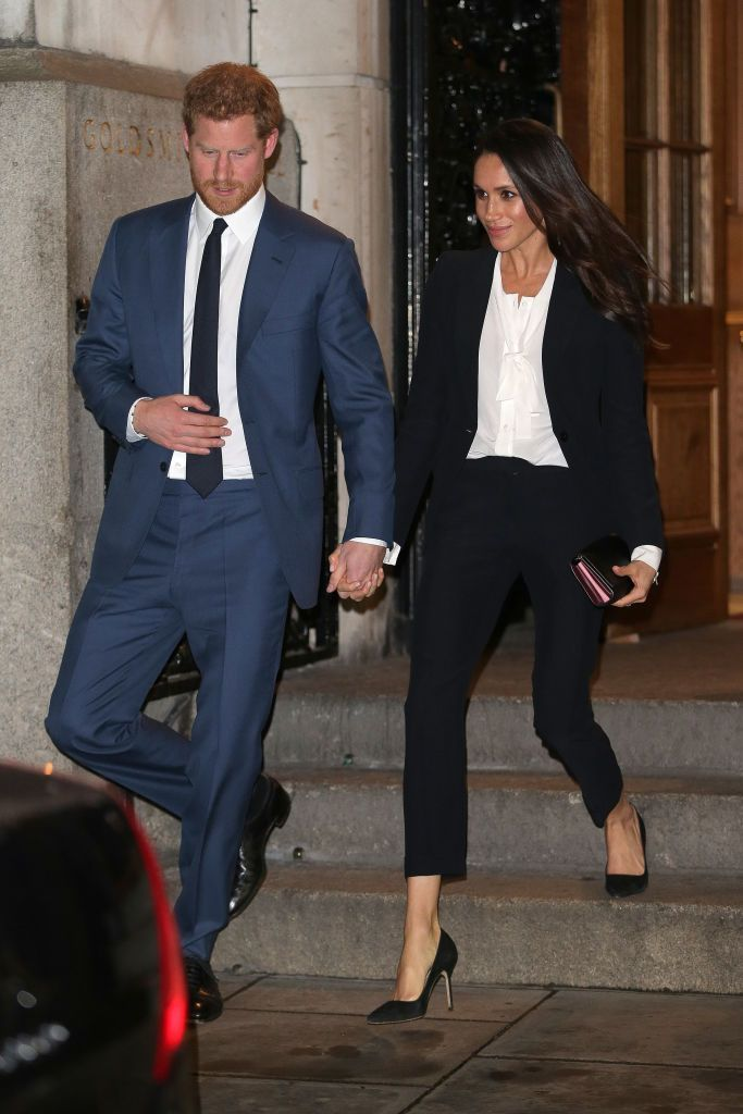 LONDON, UNITED KINGDOM - FEBRUARY 01:  Prince Harry and fiance Meghan Markle leave the 'Endeavour Fund Awards' Ceremony at Goldsmiths Hall on February 1, 2018 in London, England. The awards celebrate the achievements of wounded, injured and sick servicemen and women who have taken part in remarkable sporting and adventure challenges over the last year.  (Photo by Ben Stansall - WPA Pool/Getty Images)