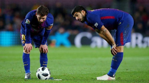 Barcelona diklaim ingin membentuk trisula Griezmann, Suarez, dan Messi.