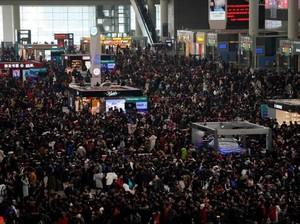 Foto: Begini Kalau Penduduk China Mudik Imlek Bersama